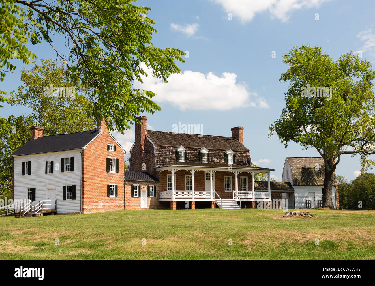Haberdeventure or Thomas Stone House - a National Historic site in Charles County, Maryland, USA - Stock Image