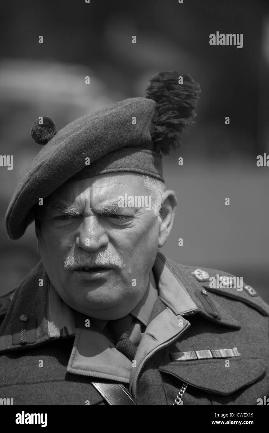British Officer - Scottish Regiment - Stock Image