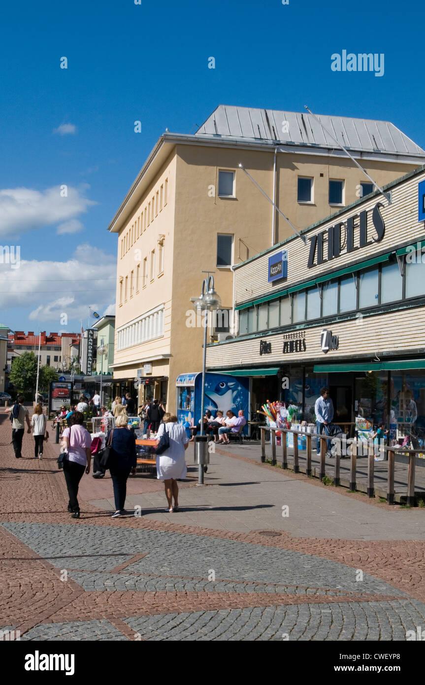 mariehamn aland isl;and islands town center finland sweden summer - Stock Image