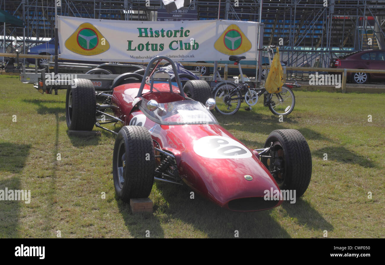 1960s Lotus Formula 1 race car at Silverstone Classic July 2012 - Stock Image