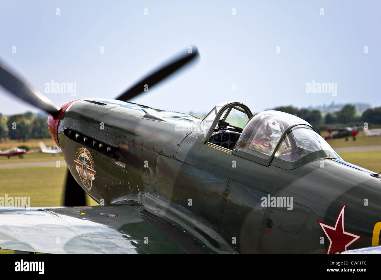 Yakalov Yak Fighter taxiing for takeoff - Stock Image