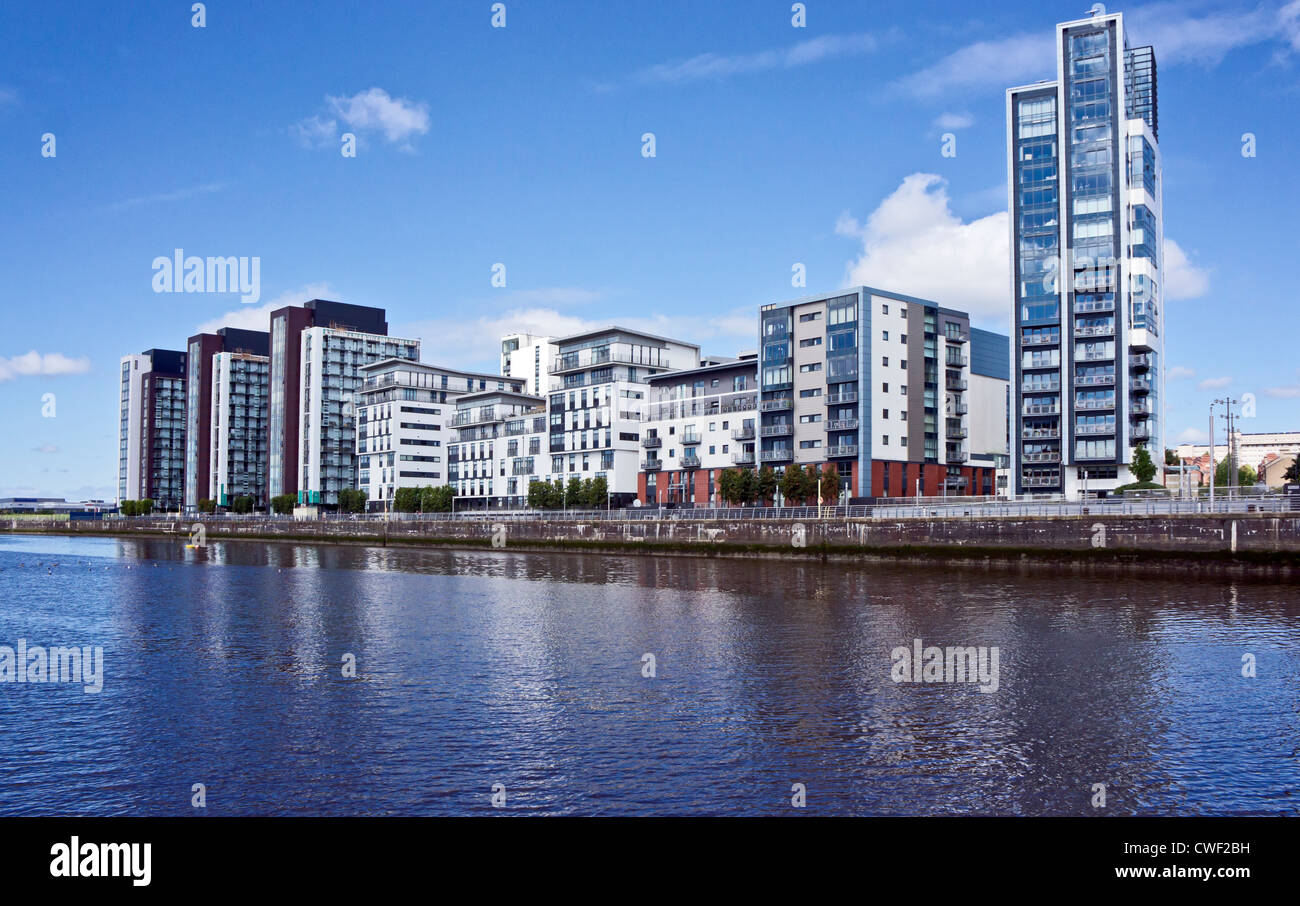 Glasgow Harbour Terraces Partick Glasgow - Stock Image