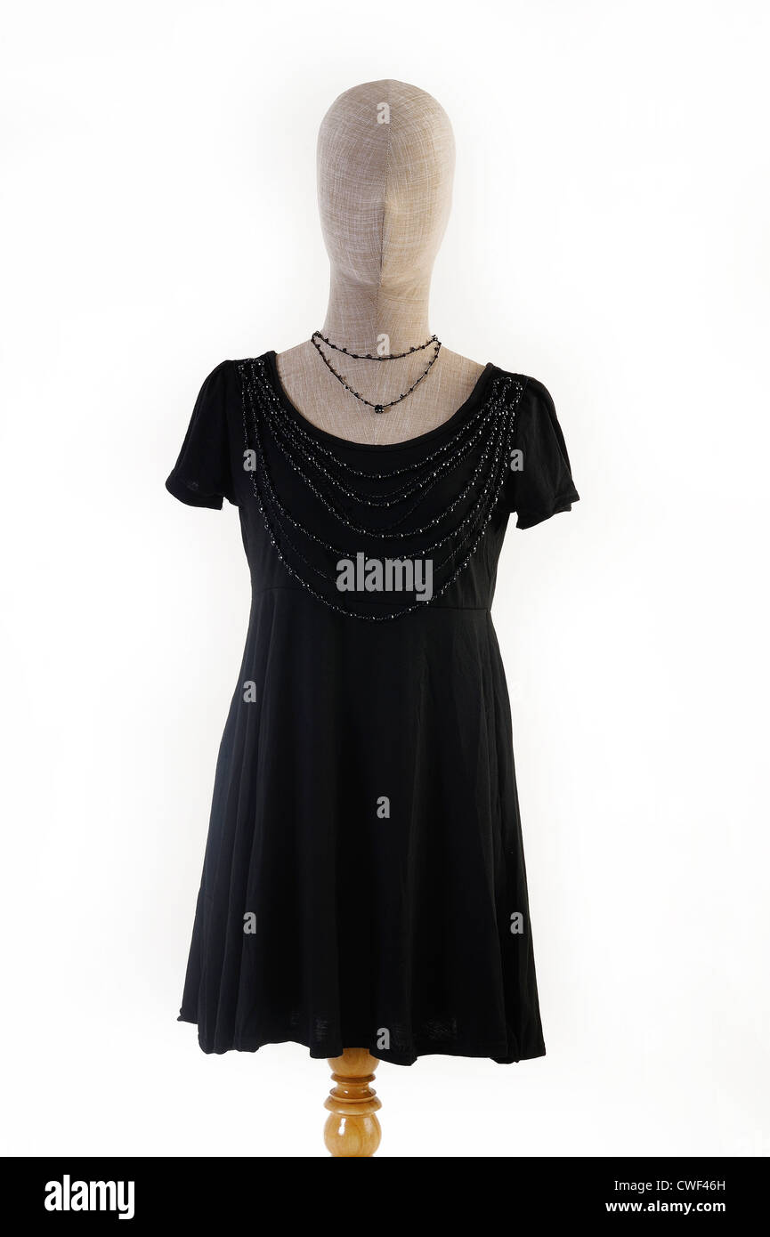 dress on mannequin - Stock Image
