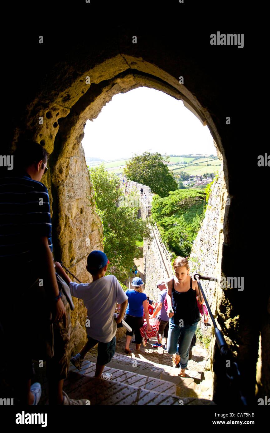 Carisbrooke Castle Isle of Wight England UK - Stock Image