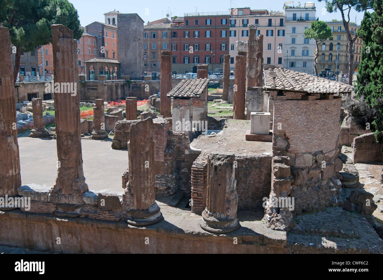 Temple A, Temple of Juturna, Largo di Torre Argentina is a square in Rome, Italy, that is the site of an Archaeological - Stock Image