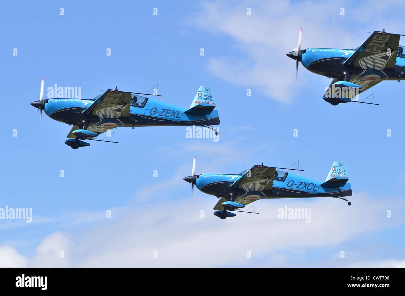 The Blades Aerobatic Display Team, Royal Air Forces Association, taking off at Farnborough International Airshow Stock Photo