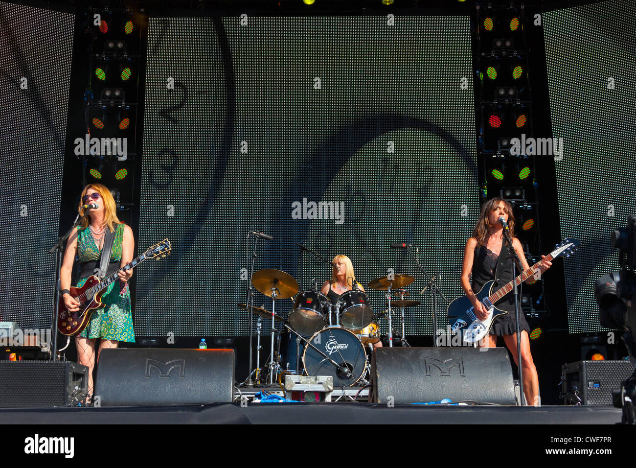 The group The Bangles performing on stage at the Rewind Festival Henley on Thames 2012. PER0244 - Stock Image