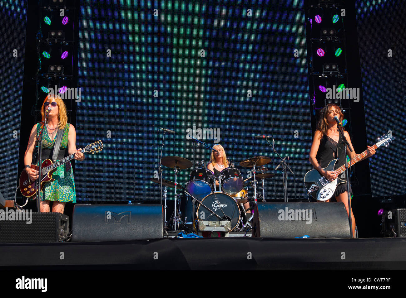 The group The Bangles performing on stage at the Rewind Festival Henley on Thames 2012. PER0245 - Stock Image