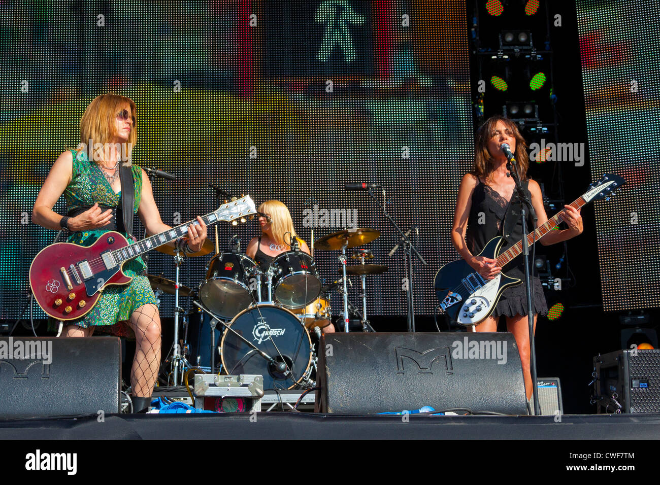 The group The Bangles performing on stage at the Rewind Festival Henley on Thames 2012. PER0247 - Stock Image