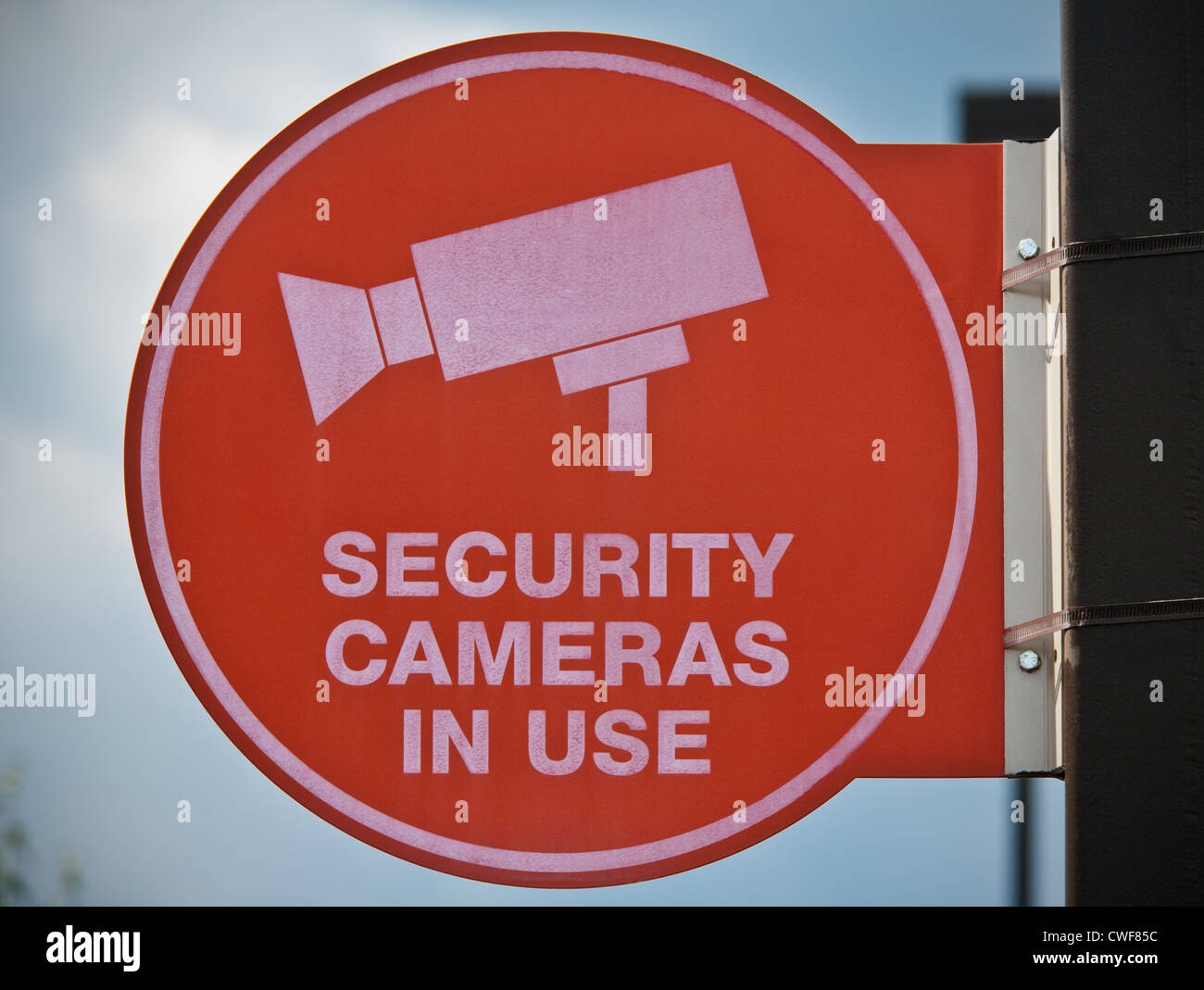 Security cameras in use, ubiquitous surveillance, USA - Stock Image