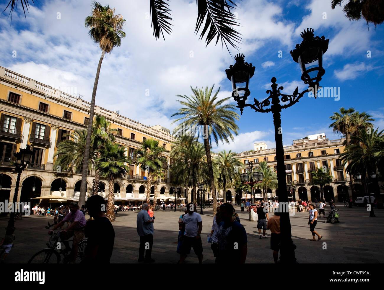 Placa Reial, Barcelona, Catalonia, Spain - Stock Image