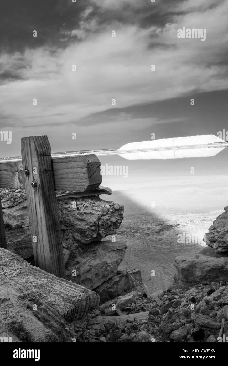 salinas de santa ola, elche, spain - Stock Image