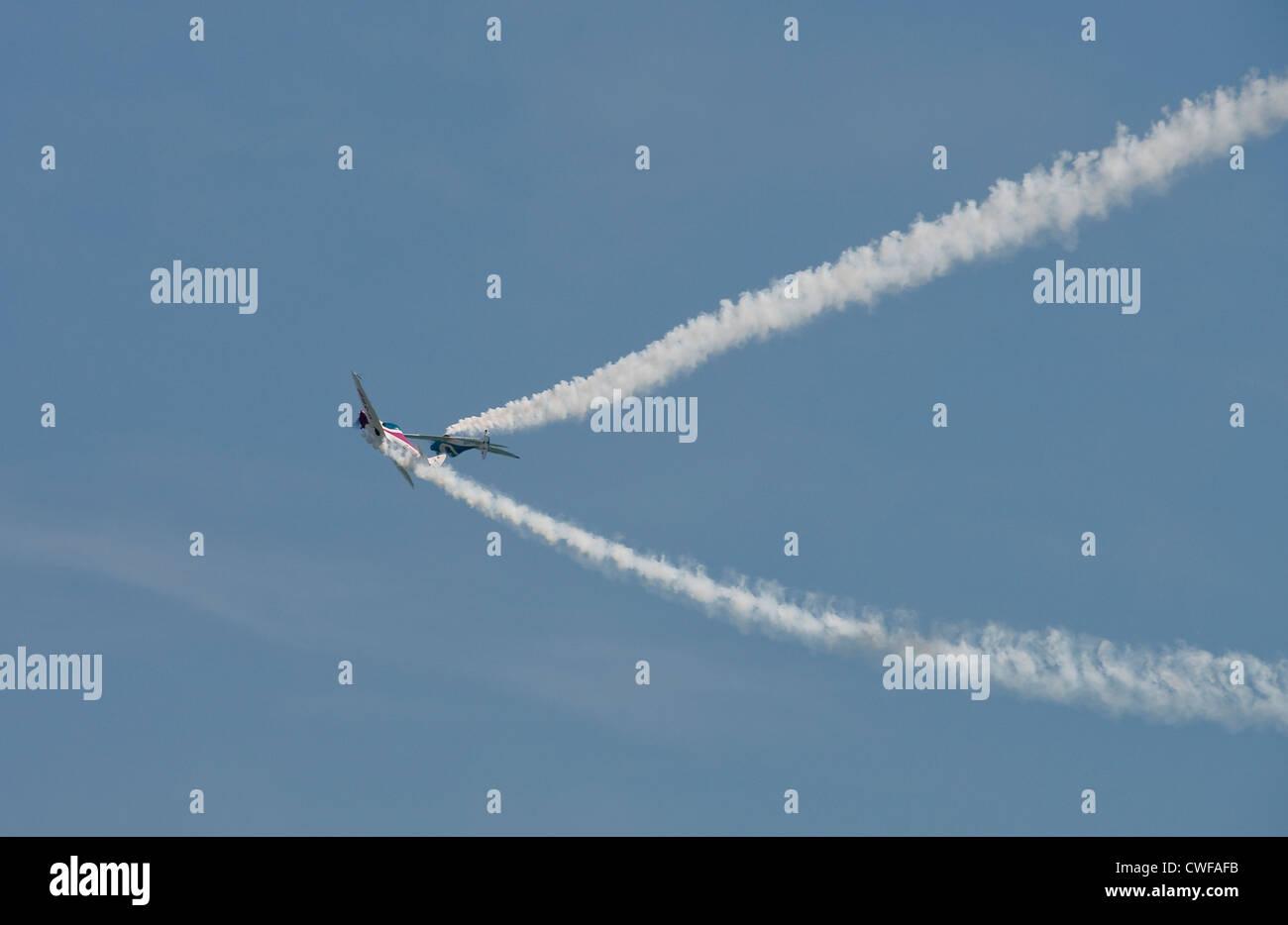 Airobatic Display at Eastbourne -1 - Stock Image