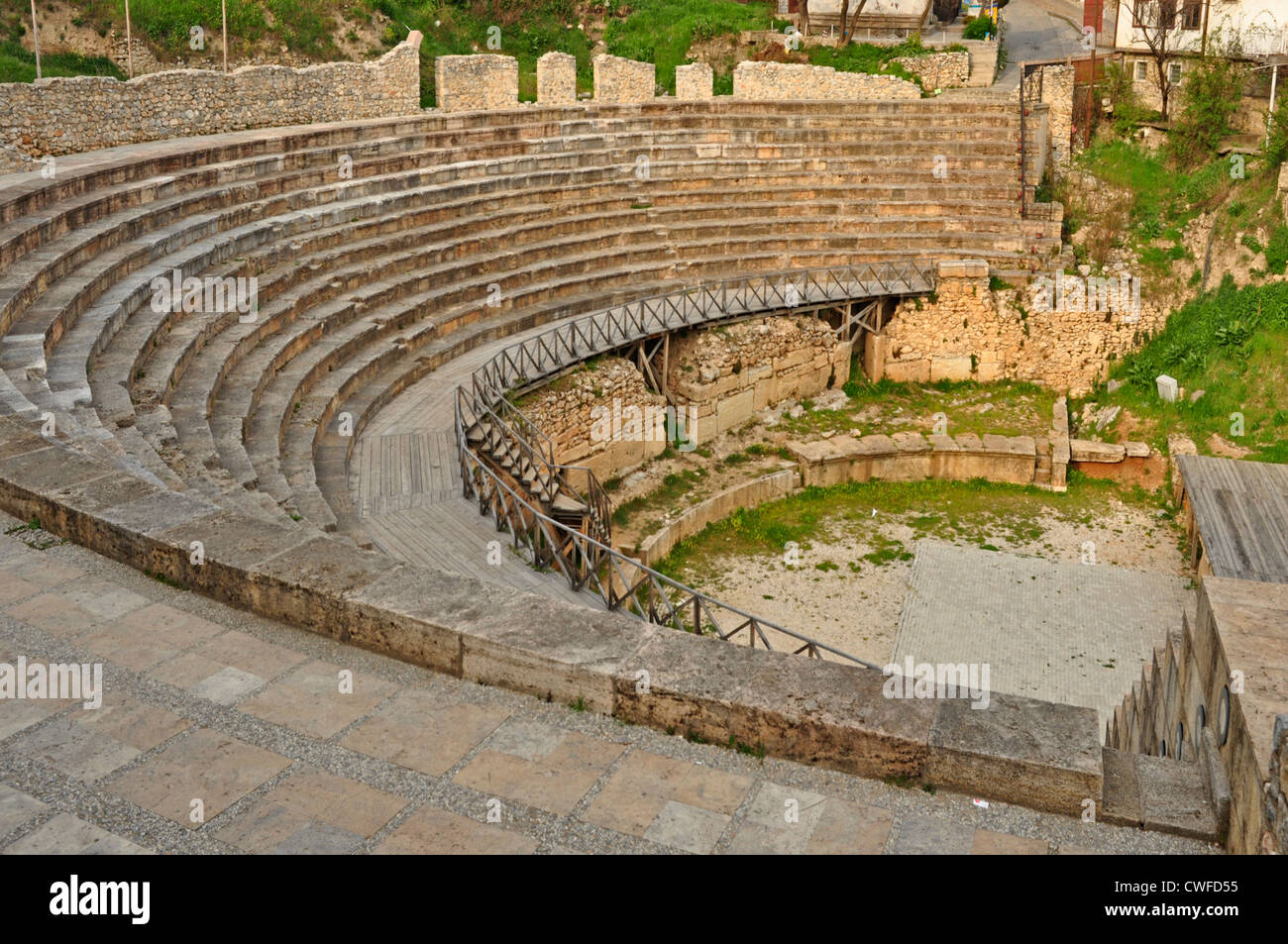 Europe macedonia ohrid roman amphitheatre 1st century ad stock europe macedonia ohrid roman amphitheatre 1st century ad publicscrutiny Images