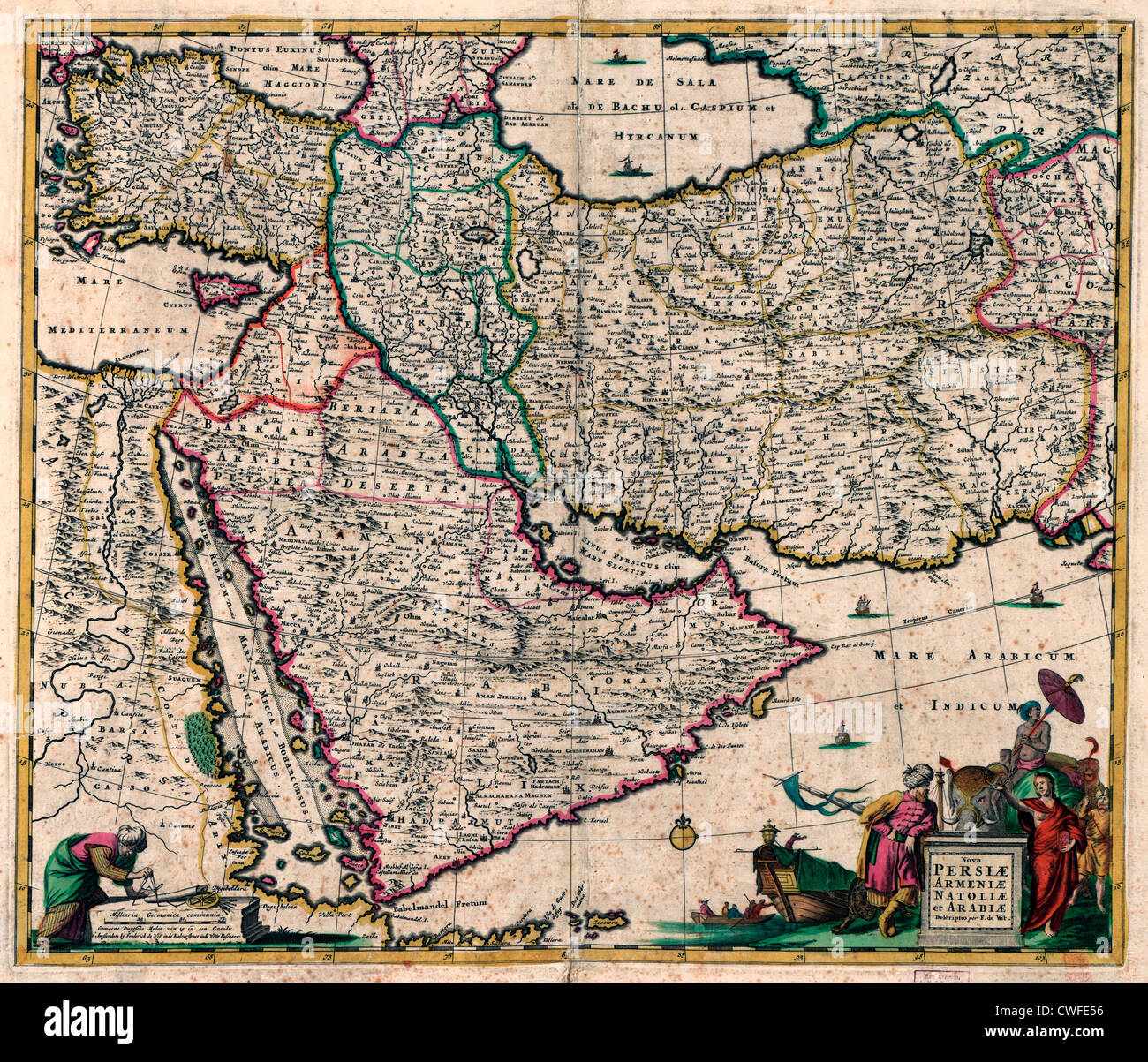 Map of middle east saudi arabia turkey egypt persia circa 1666 map of middle east saudi arabia turkey egypt persia circa 1666 gumiabroncs Choice Image