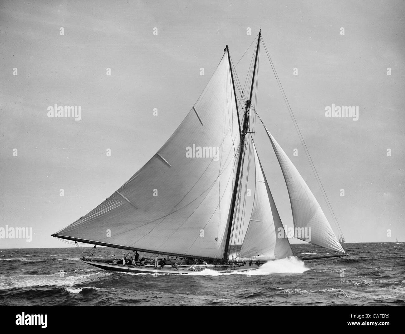 Yacht  Jubilee, September 11, 1893, contender to defend the America's Cup 1893, - Stock Image