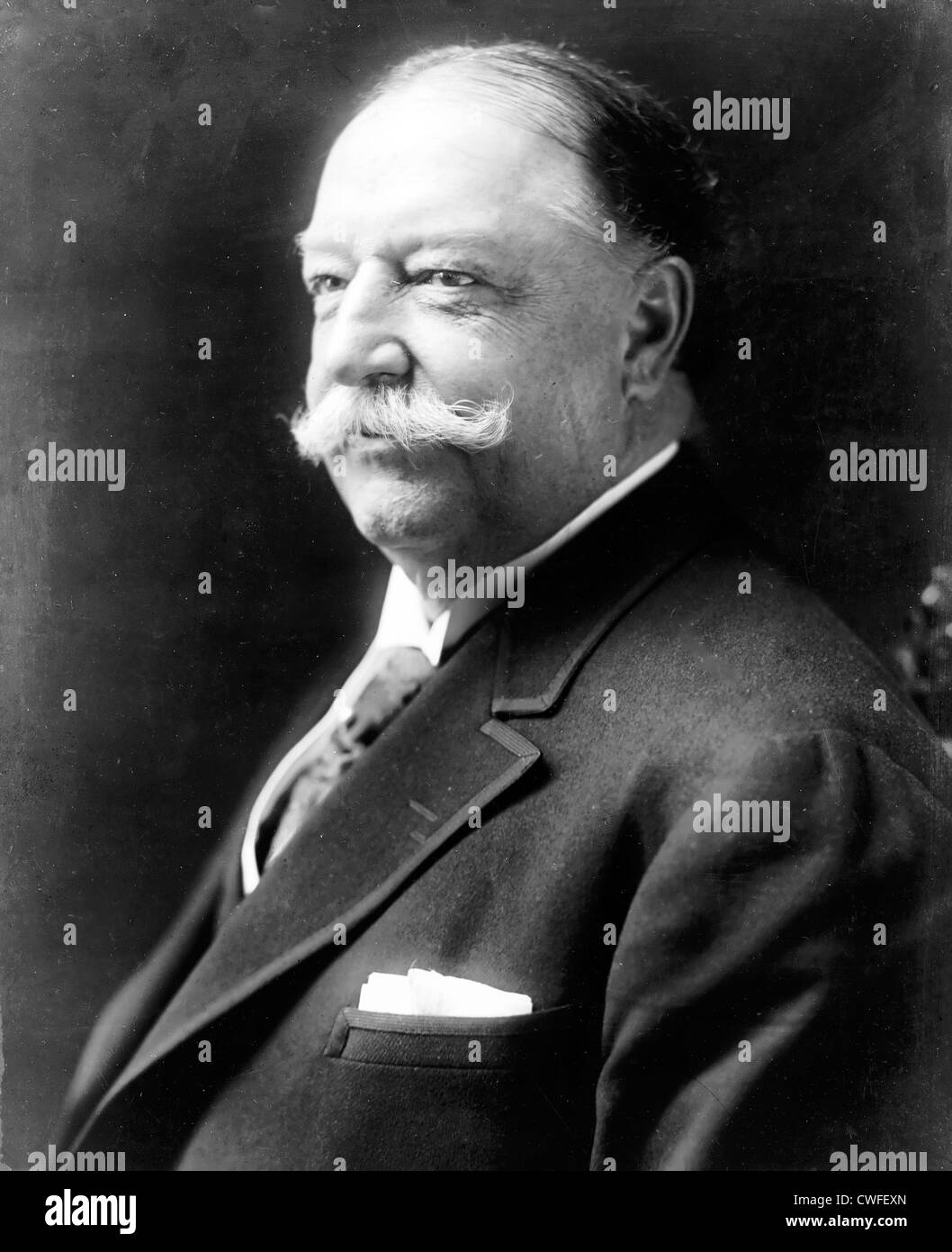 William Howard Taft, head-and-shoulders portrait, facing left, cIrca 916 - Stock Image