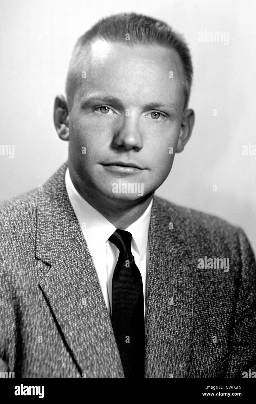 Early portrait of Neil A. Armstrong after joining the National Advisory Committee for Aeronautics at the Lewis Flight Stock Photo