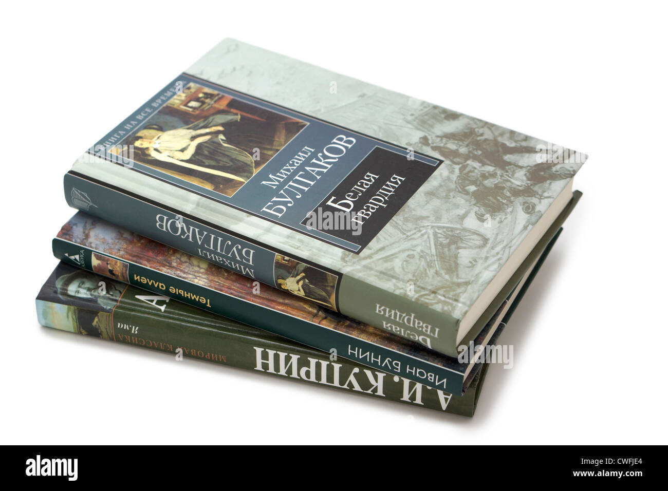 Russian Books - Stock Image