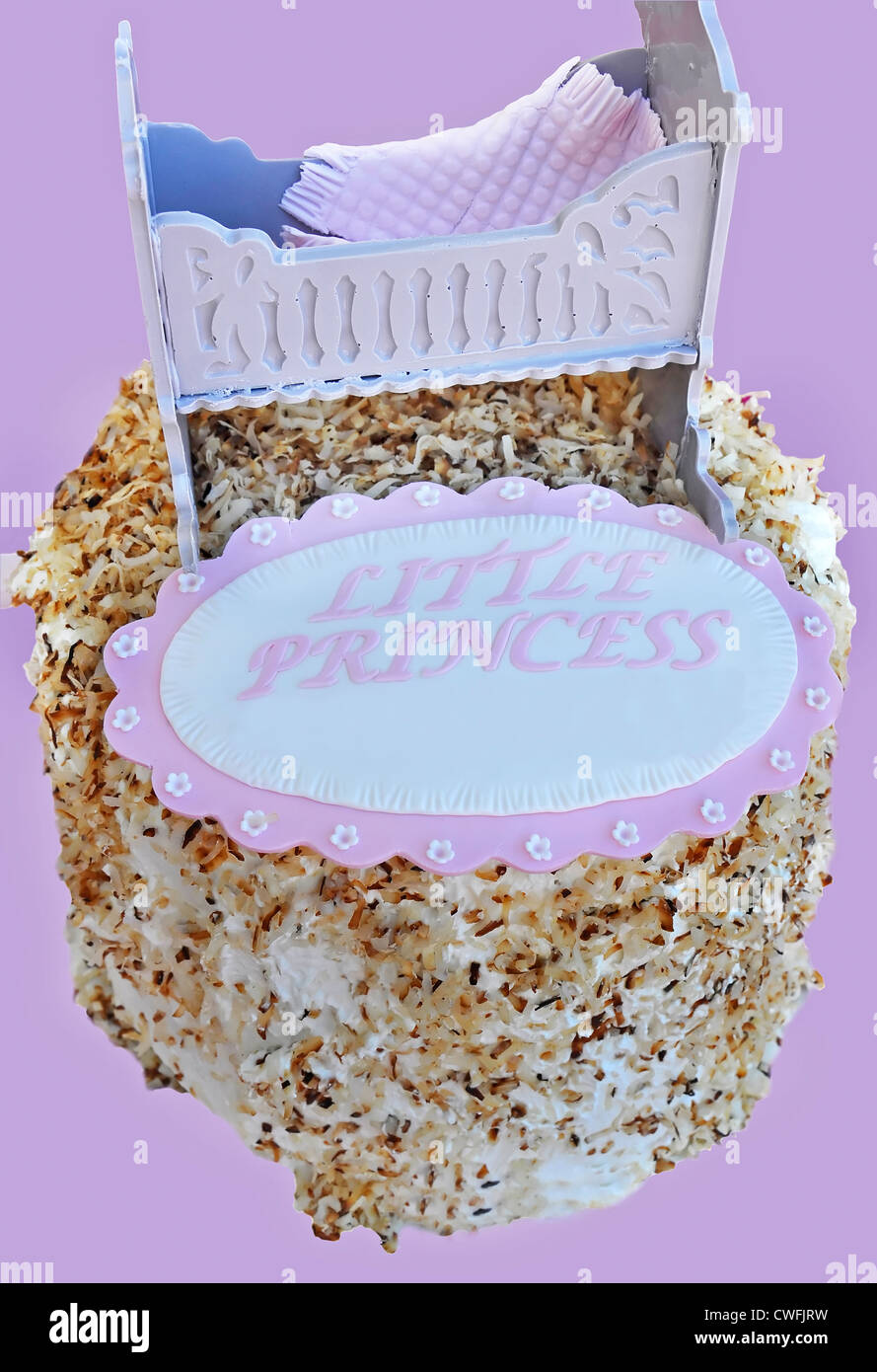 Toasted Coconut Cake Is A Baby Girl Dessert For A Baby Shower Cake