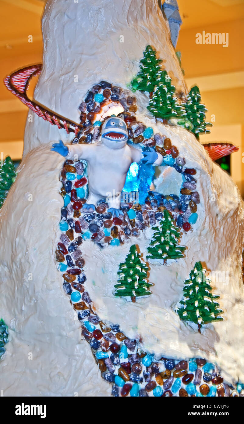 This Masterpiece Gingerbread Abominable Snowman Was On Display At Stock Photo Alamy