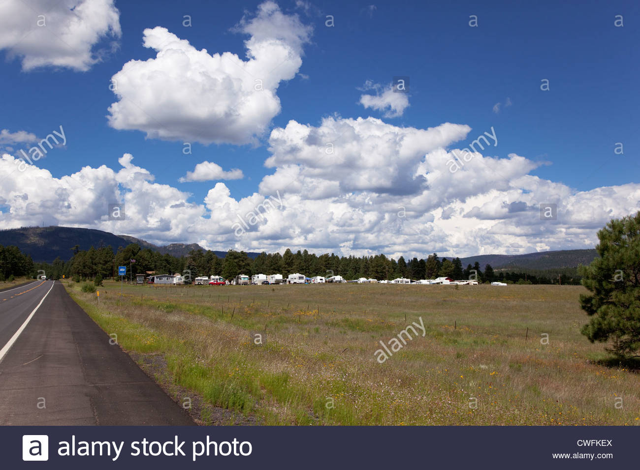 Outpost RV Trailer Park Alpine Arizona Stock Photo