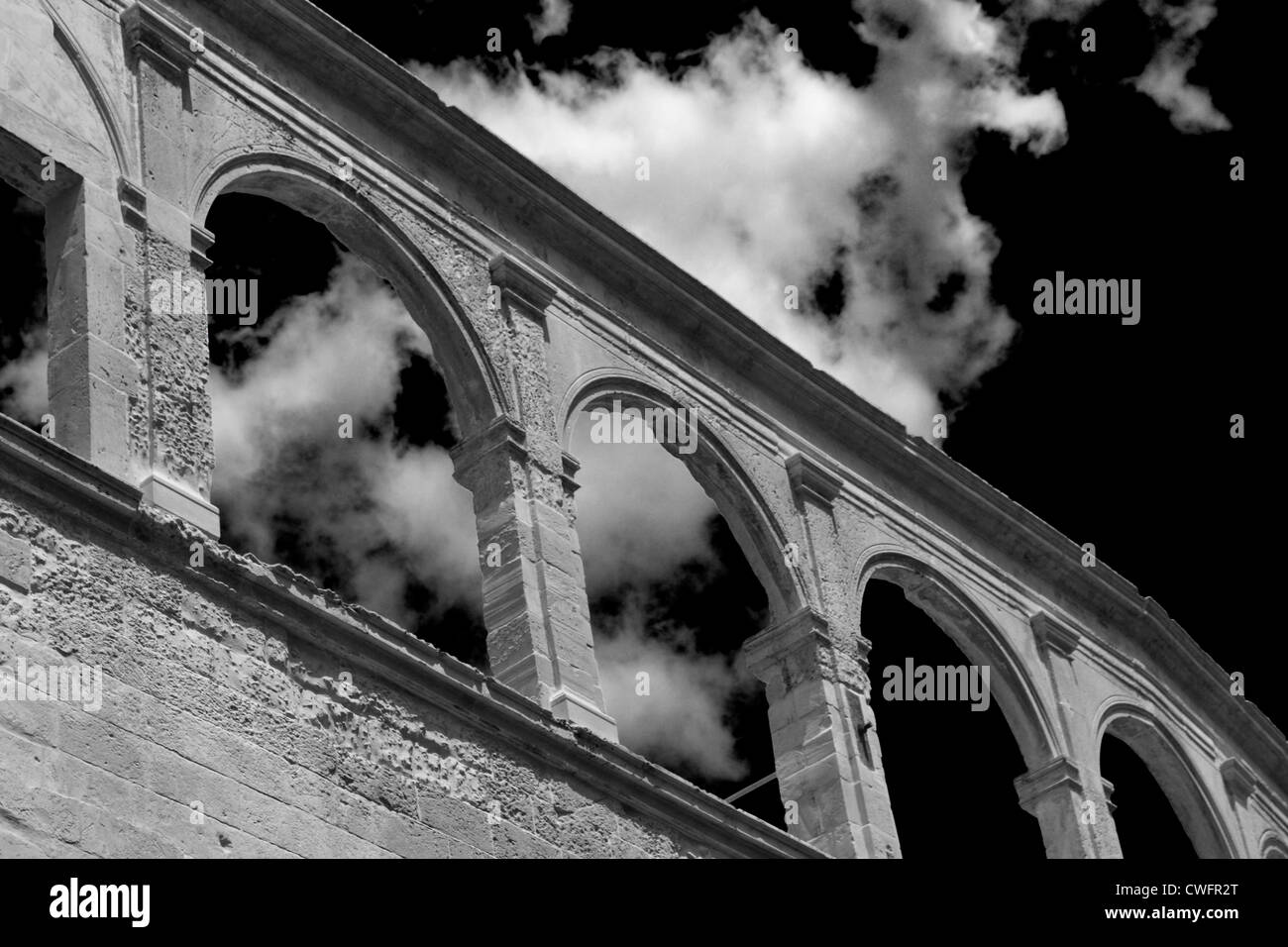 Roman amphitheater in Lecce, Italy - Stock Image