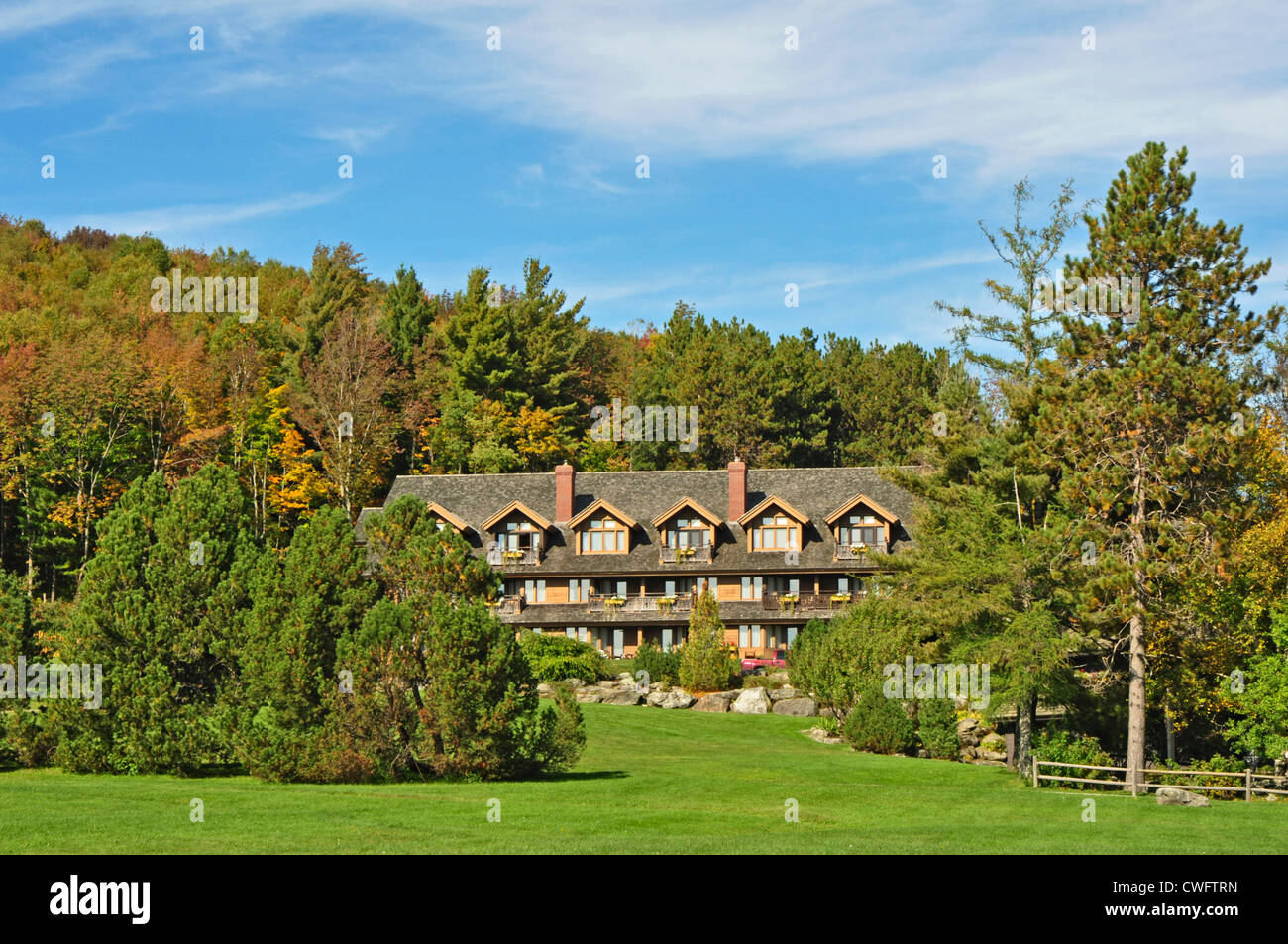 UNITED STATES OF AMERICA, USA, New England, Vermont, Stowe, Von Trapp Family Lodge (as in the Sound of Music family) - Stock Image