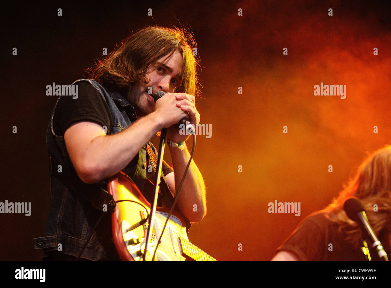 BENICASSIM, SPAIN - JULY 15: The Vaccines performs at FIB on July 14, 2012 in Benicassim, Spain. - Stock Image