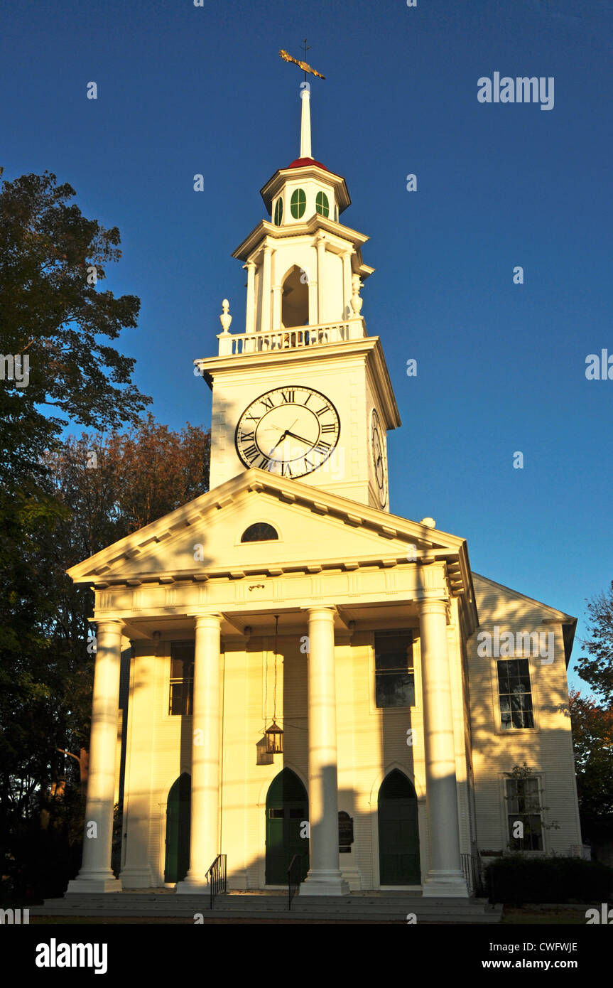 UNITED STATES OF AMERICA, USA, New England, Maine, Kennebunkport, South Congregational Church - Stock Image