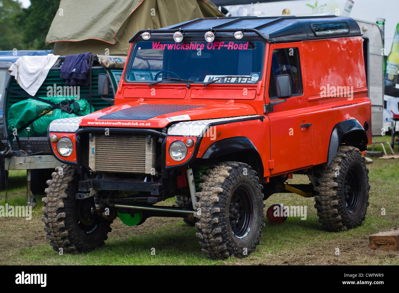 highly modified 4x4 land rover defender 90 for extreme offroading at stock photo 50136669 alamy. Black Bedroom Furniture Sets. Home Design Ideas