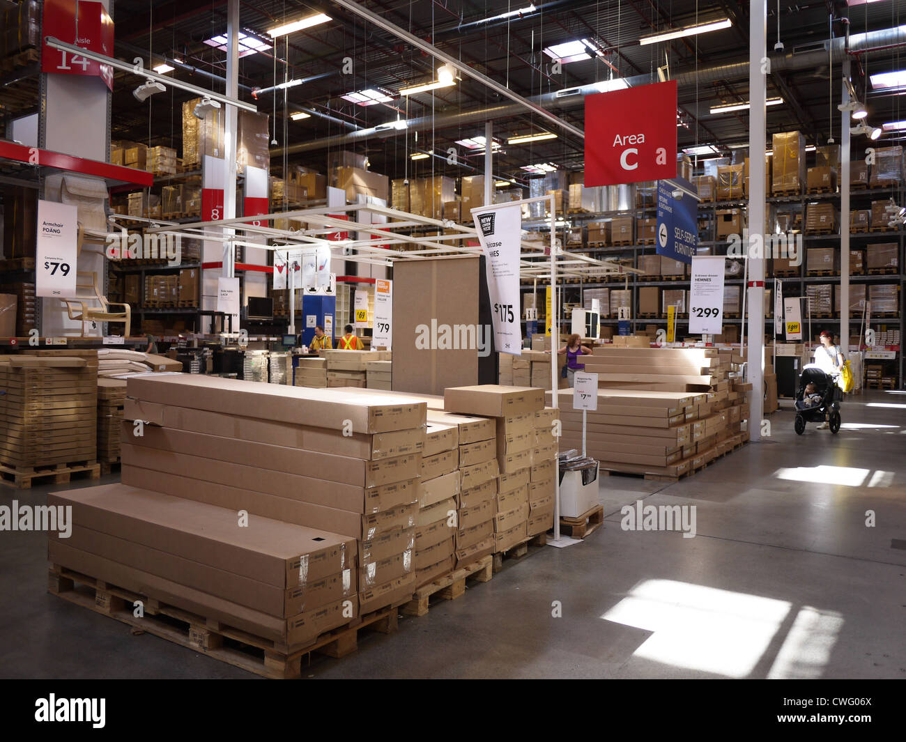 Ikea warehouse furniture store interior inside stock photo for Ikea locations plymouth meeting pa