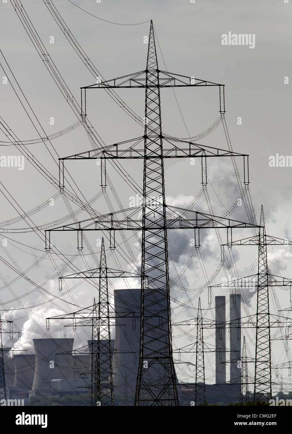 power plant and power supply - Stock Image