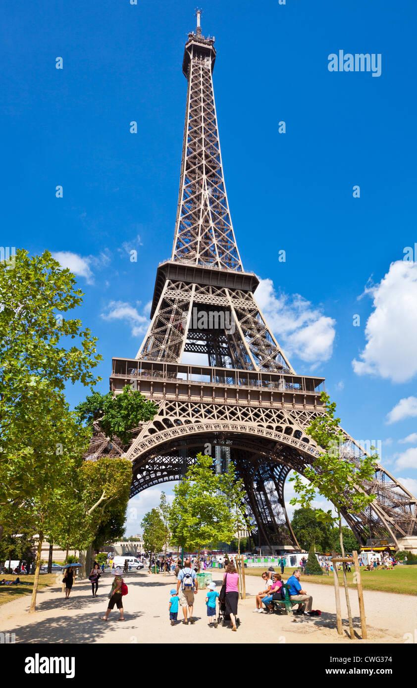 Paris France EU Europe Eiffel tower - Stock Image