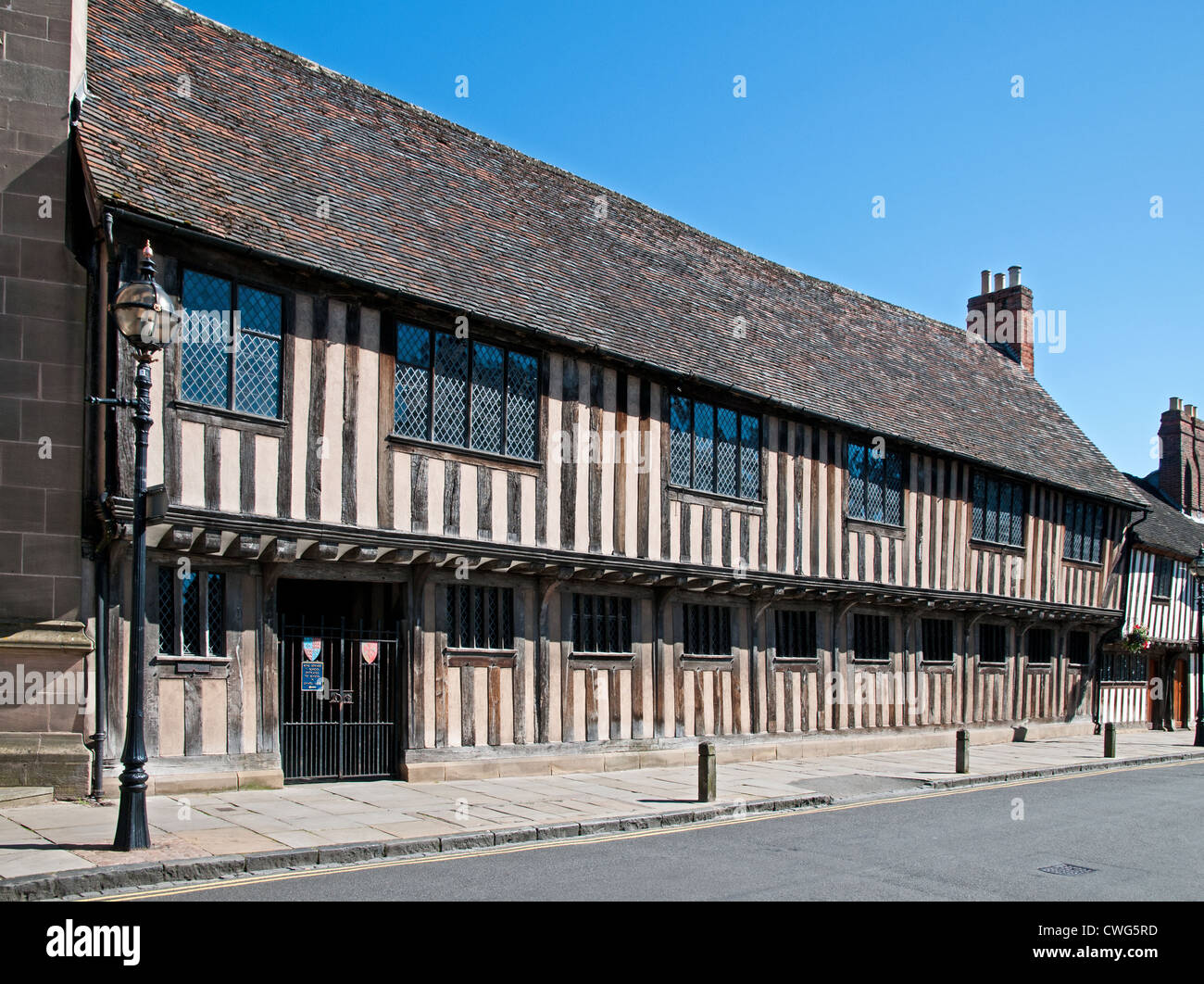 medieval half timbered alms houses now part of king edward vi school rh alamy com house_owner minecraft house_owner in jail