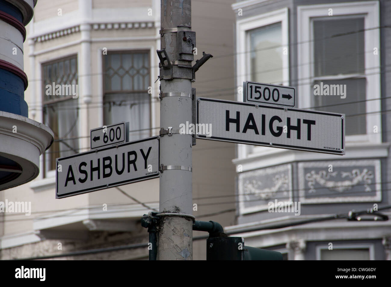 Haight Ashbury street sign - Stock Image