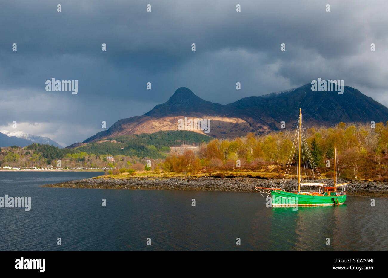 a landscape of loch linnhe west highlands of scotland - Stock Image