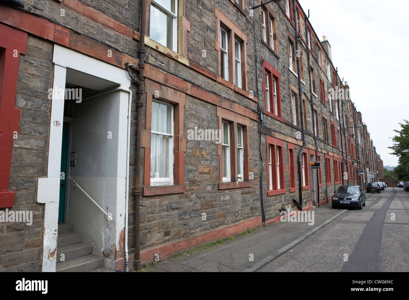 Tenement Houses Now Apartments In Edinburgh, Scotland, Uk, United Kingdom
