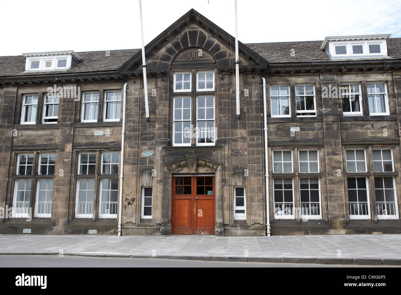 1910 laboratory and offices on inverleith row of royal botanic garden edinburgh, scotland, uk, united kingdom - Stock Image