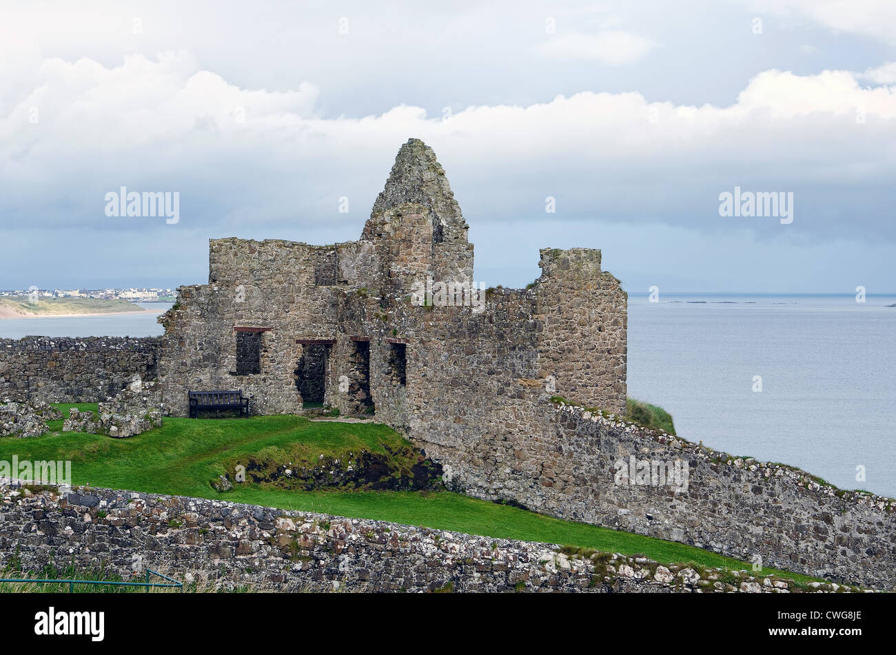 Dunluce Castle in County Antrim, Northern Ireland Stock Photo