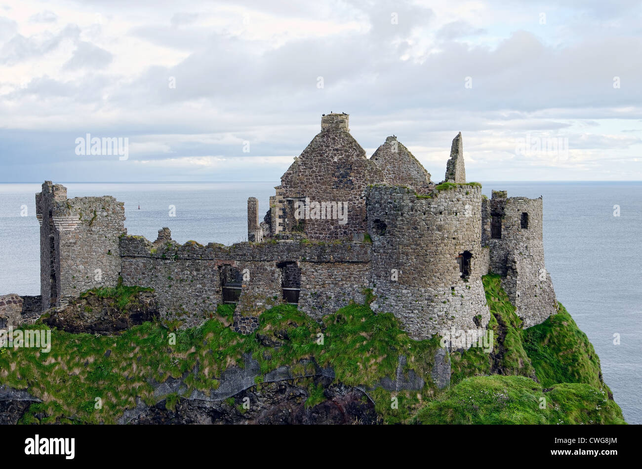Dunluce Castle, County Antrim in Northern Ireland - Stock Image