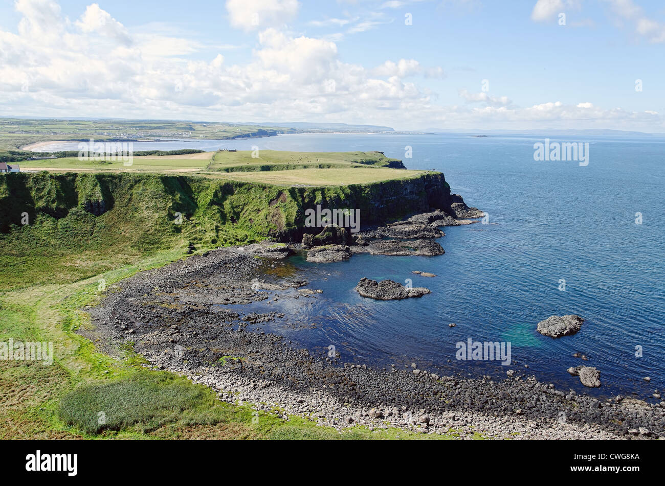 The Giants Causeway in County Antrim, Northern Ireland - Stock Image