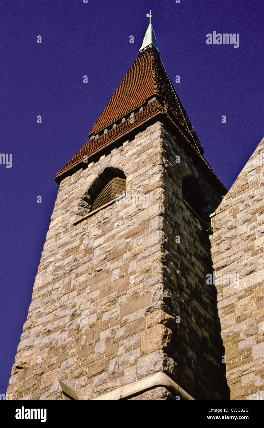 Tower of the Tampere Cathedral, Finland Stock Photo