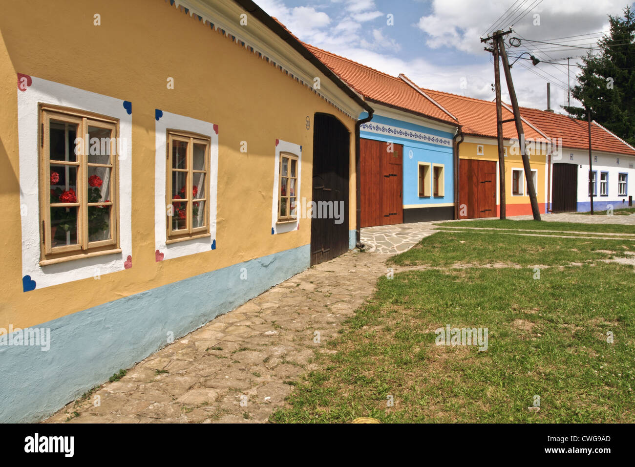 old village houses - Stock Image