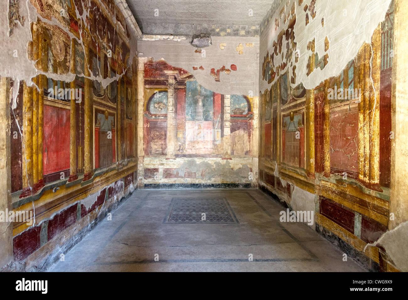 Villa Villa Poppaea Oplontis Unesco Stock Photos & Villa