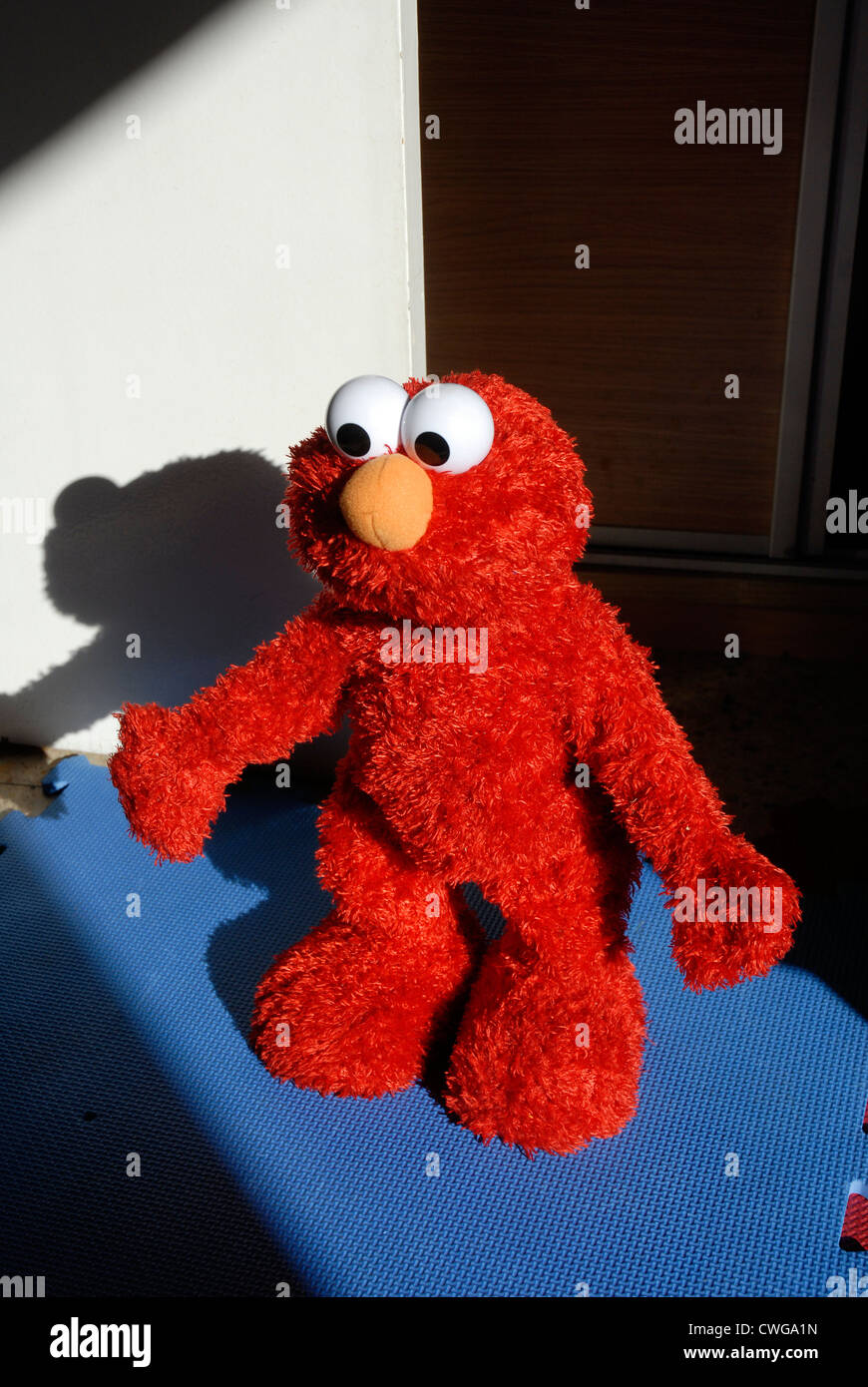 Elmo is a puppet of the television program Sesame Street. - Stock Image
