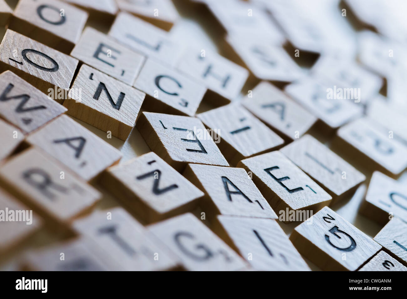 mixed scrabble letters