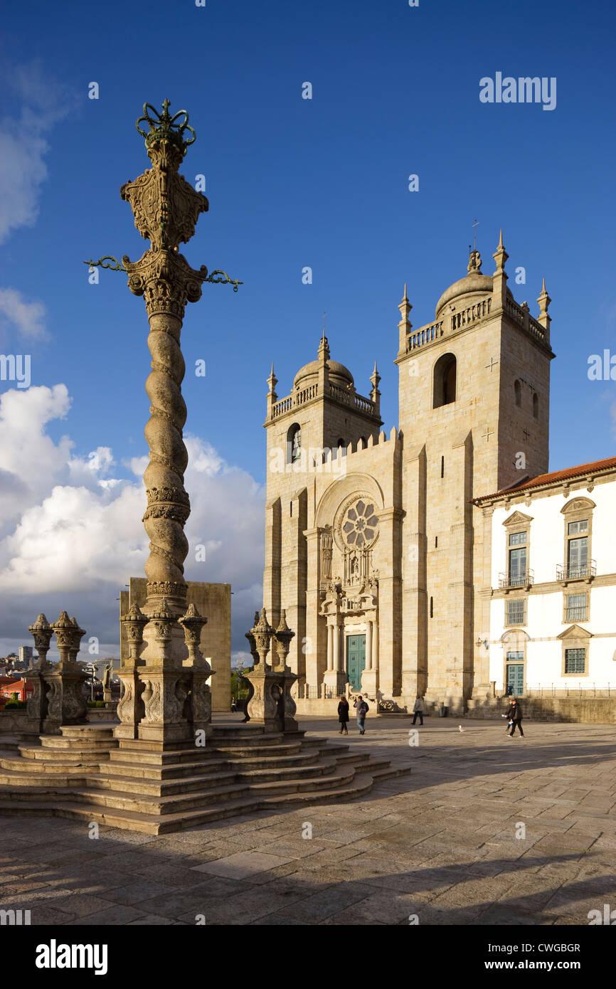 Se Cathedral Porto Portugal Stock Photo