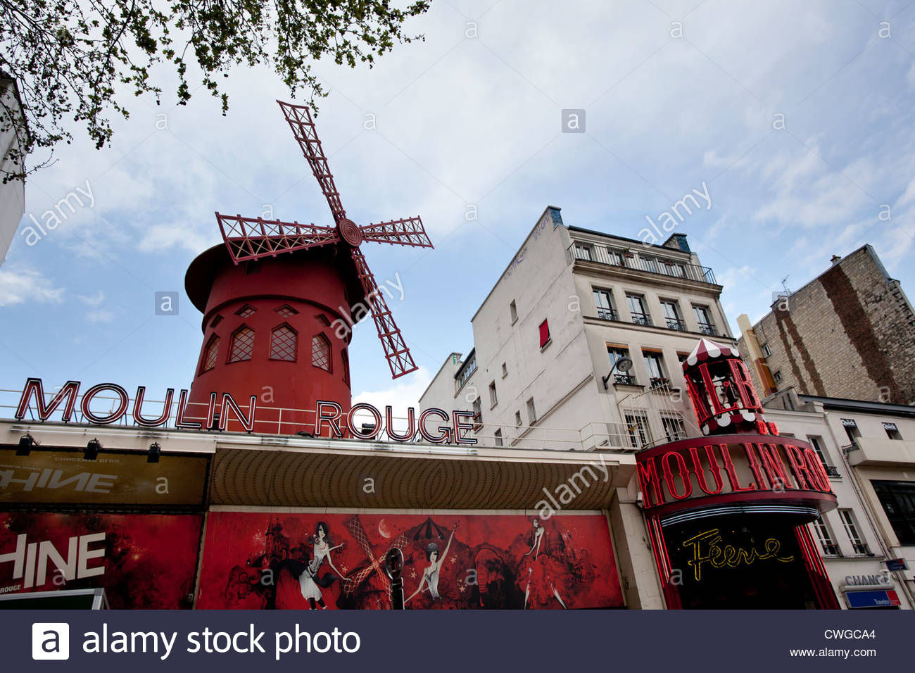 The Moulin Rouge, Paris, France - Stock Image