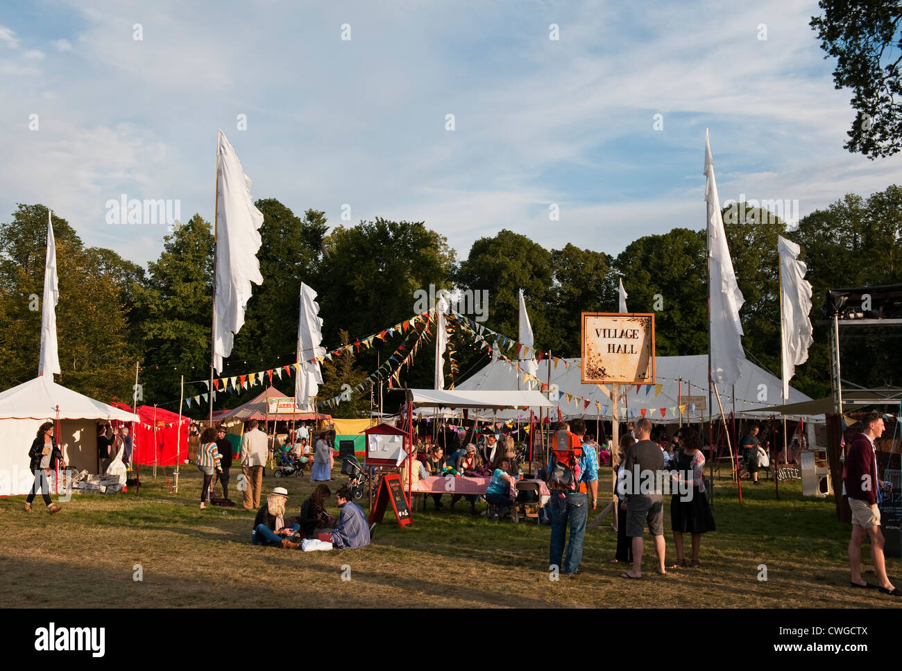 Wilderness Festival 2012, Cornbury, UK. The Village Hall tent - Stock Image